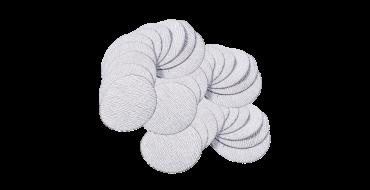 "APA95 50mm (2"") Sandpaper Discs, 60, 120, 240, 320 & 400 Grades (10 of each Grade plus 2"" Backing Pad per Pack)"