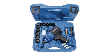 Prevost 1/2 Drive Limited Torque Composite Air Impact Wrench - Twin Hammer in Case