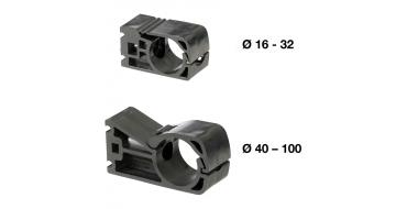 Prevost 5 x 40mm Pipe Clip M8 Thread in Centre