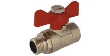"T-Handle Ball Valve G1"" Male/Female"