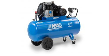 18 cfm Abac PRO A49B 270L CM4 *1 Phase 20amp Supply (with optional wheels)