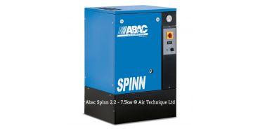 Abac Spinn 5.5kw 21cfm @ 10 Bar Floor Mounted 415 Volt C40 Compressor