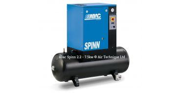 Abac Spinn 5.5kw 21cfm @ 10 Bar Tank Mounted 415 Volt 200L C40 Compressor