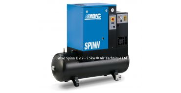 Abac Spinn E 5.5kw 21cfm @ 10 Bar 270L Tank-Dryer 415 Volt C40 Compressor