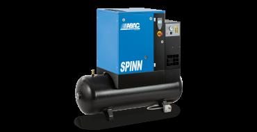 Abac Spinn E 3kw 12.9 cfm @ 10 Bar 415 Volt Tank-Dryer Mounted 200L C43 Compressor