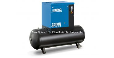 Abac Spinn X 5.5kw 30cfm @ 8 Bar Tank mounted 270L C55* Compressor