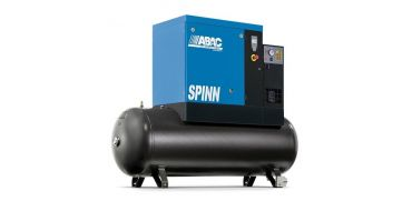 Abac Spinn E 15kw 59cfm @ 10 Bar Tank-Dryer Mounted 270L C55* Compressor