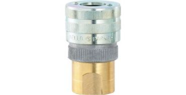 "1/4"" bsp Female Schrader HEAVY DUTY Coupling ACS202"