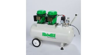 Bambi BB50D Silent Air Compressor with Wheels