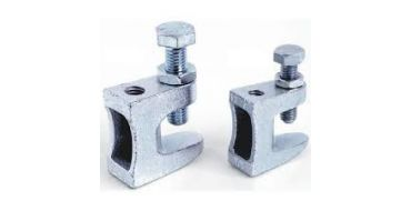 10 x AIRnet Screw Beam Clamp M8mm Hole for studding 1.5 - 11mm Beam Thickness