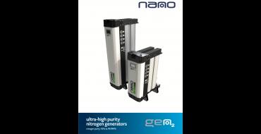 Nano Gen 2 Nitrogen Generator 95 - 99.9% Nitrogen Purity 0.9 - 200.3 Nm3/h