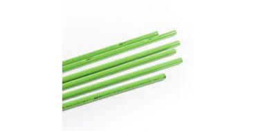 1 x 5.7mtr 50mm Green Aluminimum AIRnet Pipe for Inert Gases