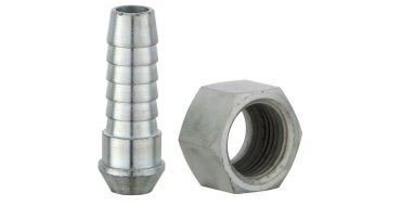 Coned Tailpiece 9.5mm (3/8) i/d Hose & Union Nut Rp 1/4