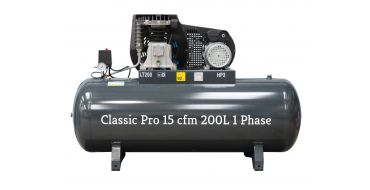 *15 cfm Classic Pro Black Edition NG4-200F- 3M*Single Phase 16 amp Supply
