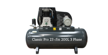 *23 cfm Classic Pro Black Edition NG5-200F-5.5T 3 phase 415 Volt supply