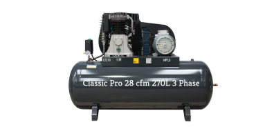 *28 cfm Classic Pro Black Edition NG6-270F-7.5T 3 phase 415 Volt supply