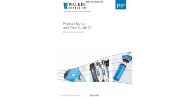Walker Filtration Price & Products Download 2019