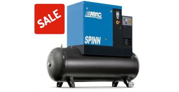 Abac Spinn XE 5.5kw 30cfm @ 8 Bar Tank-Dryer Mounted 270L C55* Compressor