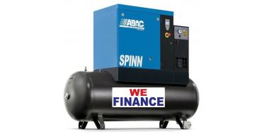Abac Spinn XE 5.5kw 10 Bar Tank-Dryer Mounted 270L C55* Finance Example