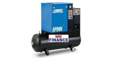 Abac Spinn E 5.5kw 21cfm @ 10 Bar Tank-Dryer Mounted 200L Finance Example