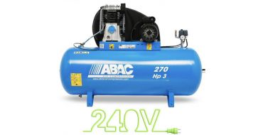 15 cfm Abac PRO A49B 270L CM3 *1 Phase 16amp Supply