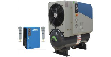 SCR 20PM2 + Dryer 8 bar 85 cfm Permanent Magnet variable Speed 15kw Rotary screw Air Compressor