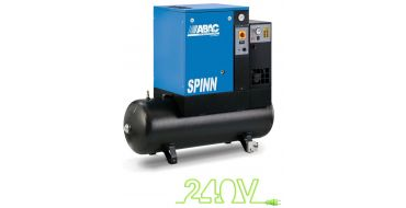Abac Spinn E 2.2kw 8.5cfm @ 10 Bar 240 Volt Tank-Dryer Mounted 200L C40 Compressor