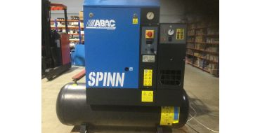Reconditioned Abac Spinn E 4kw 16cfm @ 10 Bar 415 Volt Tank-Dryer Mounted 200L C40 Compressor