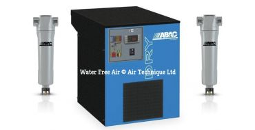 Abac DRY 130 + 2 x Filters 76.5 cfm Refrigerated Dryer + Free Filter Mounting Support
