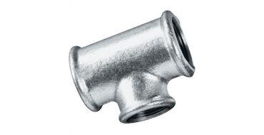 """1/2"""" bsp Equal Tee Female Thread Malleable Iron Galvanised"""