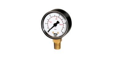 G1/4 Pressure Gauge 50mm Dia. 0-12bar/psi Bottom Entry