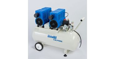 Bambi PT50D Oil Free Air Compressor with wheels