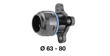 Prevost 63mm Straight Aluminum Fitting with Flange