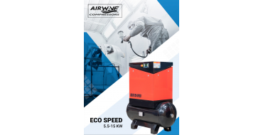 Airwave Eco-Speed 7.5kw 32 cfm @ 10 Bar 300L Tank Mounted + Free Options
