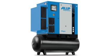 Alup Allegro 25 Variable Speed 150 cfm @ 7 bar 26kw Tank Mounted + Dryer