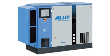Alup Allegro 14 Variable Speed 81.3 cfm @ 7 bar 15kw Floor Mounted + Dryer