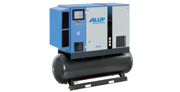 Alup Allegro 14 Variable Speed 81.3 cfm @ 7 bar 15kw Tank+Dryer Mounted