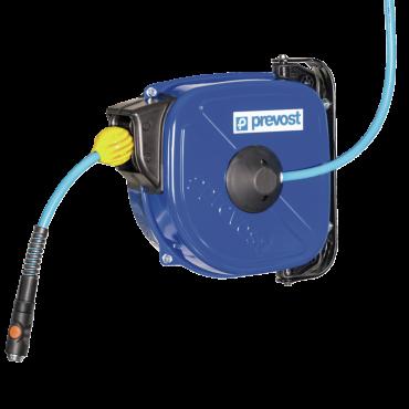 ATEX Prevost DBF Series safety retraction 12mtrs x 10mm anti-static polyurethane hose c/w Euro Coupling