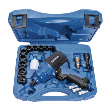Prevost 1/2 Drive Composite Air Impact Wrench - Reinforced Twin Hammer in Case