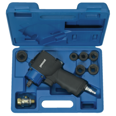 Prevost 1/2 Drive Compact Air Impact Wrench - Single Hammer in Case