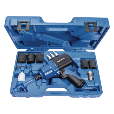 Prevost 3/4 Drive Composite Air Impact Wrench - Reinforced Twin Hammer in Case