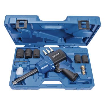Prevost 3/4 Extended Drive Composite Air Impact Wrench - Reinforced Twin Hammer in Case