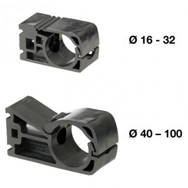 Prevost 5 x 50mm Pipe Clip M8 Thread in Centre