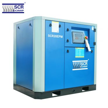 SCR 20EPM Variable Speed Compressor 105 cfm @ 7 bar 15kw Floor Mounted