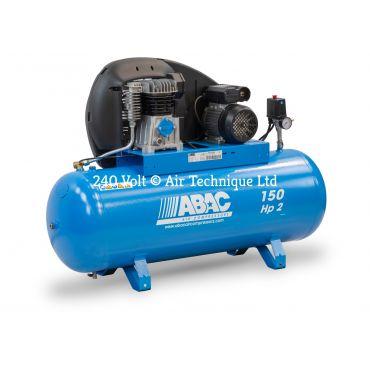 9cfm Abac PRO A29B 150L FM2 * Single phase run off a 13 Amp supply