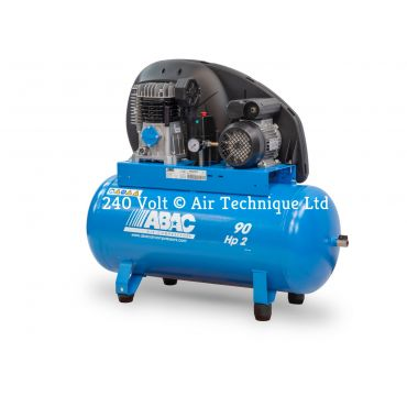 9cfm Abac PRO A29B 90L FM2 * Single phase run off a 13 Amp supply