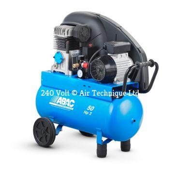 9cfm Abac PRO A29B 50L CM2 * Single phase run off a 13 Amp supply