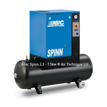Abac Spinn 5.5kw 21cfm @ 10 Bar Tank Mounted 415 Volt 200L C40 Compressor