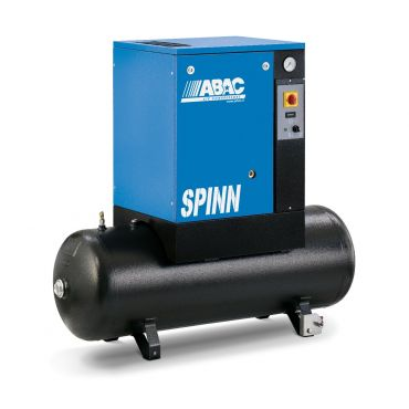 Abac Spinn 7.5kw 32cfm @ 10 Bar Tank Mounted 415 Volt 200L Stop-Start
