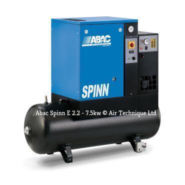 Abac Spinn E 5.5kw 21cfm @ 10 Bar 270L Tank-Dryer 415 Volt C40 Compressor